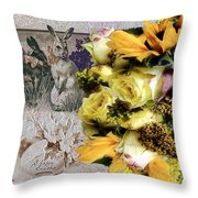 Penny Postcard Easter Throw Pillow