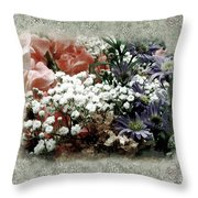 Penny Postcard Romantica Throw Pillow