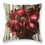Penny Postcard Striped Throw Pillow