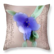 Penny Postcard Wildflower Throw Pillow