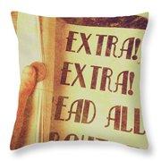 Penny Press Journal Throw Pillow