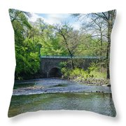 Pennypack Creek Bridge Built 1697 Throw Pillow