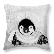 Penquin Chick Throw Pillow