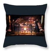 Penquin Magic Throw Pillow