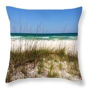 Pensacola Beach 1 - Pensacola Florida Throw Pillow
