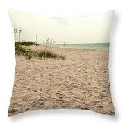 Pensacola Beach 2 Panorama - Pensacola Florida Throw Pillow