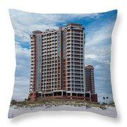 Pensacola Beach Resort Throw Pillow