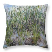 Pensive Grasses Throw Pillow