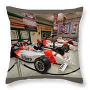 Penske Racing Indy 500 Hall Of Fame Museum Throw Pillow