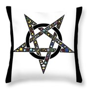 Pentacle Throw Pillow