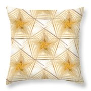 Pentagon Background Throw Pillow by Yali Shi