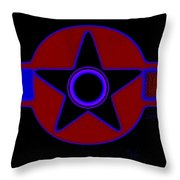 Pentagram In Red Throw Pillow