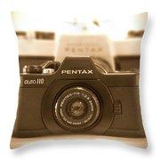 Pentax 110 Auto Throw Pillow