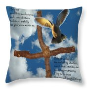 Pentecost Holy Spirit Prayer Throw Pillow