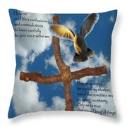 Pentecost Holy Spirit Prayer Throw Pillow by Robyn Stacey