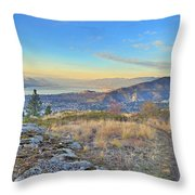 Penticton In The Distance Throw Pillow