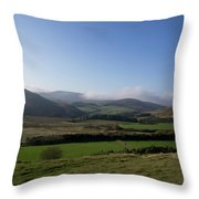 Pentlands With Clouds And Some Sun. Throw Pillow