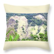 Penuelas, Puerto Rico Mountains Throw Pillow