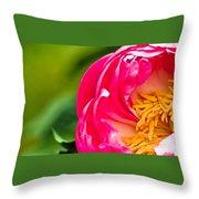 Peonie Flower Throw Pillow