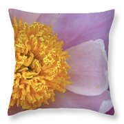 Peonie Yellow Center Throw Pillow