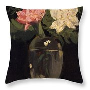 Peonies 1905, By Samuel John Peploe Throw Pillow