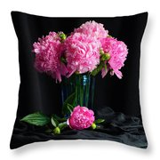 Peonies - Beauty The Brave Throw Pillow