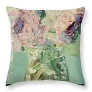 Peonies Bouquet Throw Pillow