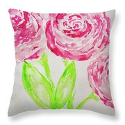 Peonies In Bloom Throw Pillow