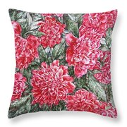 Peonies Love Throw Pillow