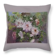 Peonies Throw Pillow