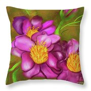 Peonies On Holiday Throw Pillow