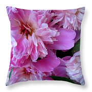 Peonies Under The Weather Throw Pillow