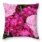 Peony Bouquet Throw Pillow