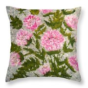 Peony Bush   Throw Pillow