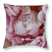 Peony Close Up Throw Pillow