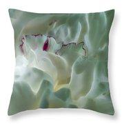 Peony Flower Energy Throw Pillow by Beth Sawickie