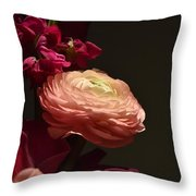 Peony In The Spotlight Throw Pillow