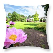 Peony Paradise Throw Pillow