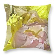 Peony Perfect Throw Pillow by Gwyn Newcombe