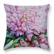 Peony Pink Parfait  Throw Pillow