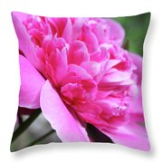 Peony Profile Throw Pillow