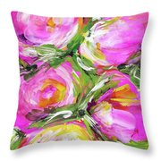 Peony Punch Throw Pillow