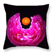 Peony Sun Throw Pillow
