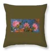 Peony Trio Throw Pillow