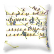 People And Birds. 18 March, 2016 Throw Pillow
