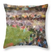 People In A Stadium Throw Pillow