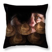 People In The Box Throw Pillow