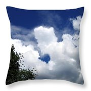 People In The Clouds Throw Pillow