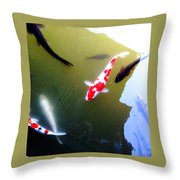 People In The Pond Throw Pillow