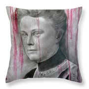 People- Lizzie Borden Throw Pillow